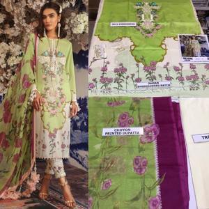 Sana Safinaz Lawn suit with chiffon duppta (3pc)