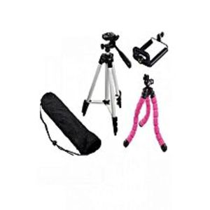 Demand Corner3110 - Tripod Stand For DLSR Camera With Mobile Tripod With Mobile Holder - Black & Silver
