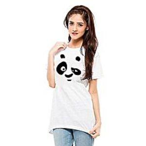 Daraz FashionPanda White T-Shirt For Women