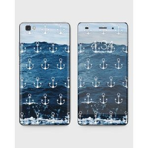 Huawei Honor P8 Lite (2015) Skin Wrap With Front Back And Sides ANCHORS OCEAN-1wall68