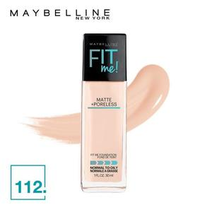 Maybelline New York Fit Me Matte + Poreless Foundation (112 Natural Buff-30ml)