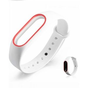 Mi Band 2 Strap - White & Red