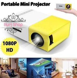 YG300 Portable Mini Pico Full Color LED projector for Children's Gift, Video Movie, Party Game, Outdoor Entertainment with HDMI USB AV Interfaces and Remote Control