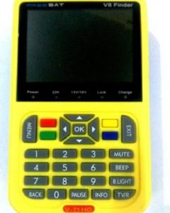 V8 Digital Finder Satellite Finder V-71 HD DVB-S2 MPEG-2/MPEG-4 FTA High Definition Satellite Meter 3.5inch LCD Display