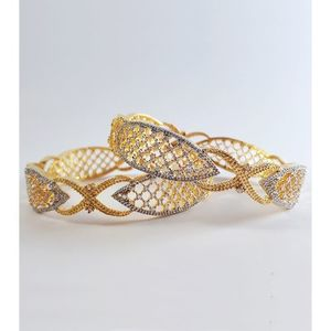 Golden and Silver bangles (set of 2)