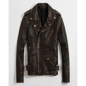 Mens Brown Suede Leather Jacket