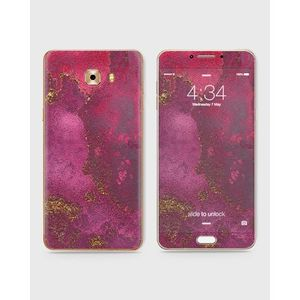 Samsung Galaxy C5 Pro Skin Wrap With Front Back And Sides Red Marble-1Wall453