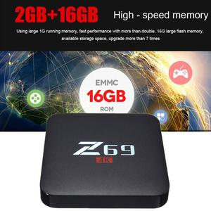 Z69 4K HD 3D TV Box Android 6.0 S905X Cortex A53 Processor 2GB+16GB WiFi BT4.0 AU Plug