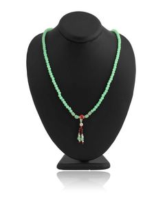 100 Degreez Green Beads Necklace for Women - JP-2904