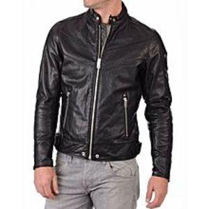 TASHCO ClothingBlack Faux Leather Jacket For Men