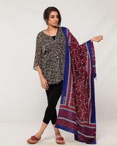 Women Multi Color Sindhi Ajrak 00014