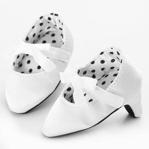 Cute Baby Girls High Heeled Shoes Newborn Kids Photo Props Accessories white 10.5