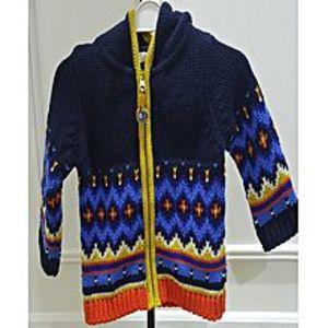 Kinder KlubBlue Cotton & Acrylic Hoodie For Boys