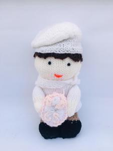White Cute Innocent Baby Girl Handmade-Handcraft Toy