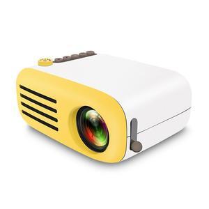 YG200 LCD Portable Home Micro Projector, Mini Smart Handheld Projector Full HD 1080P Home Theater LED Mini Multimedia Projector HDMI/SD/AV/TV/USB Home Cinema (UK Plug)