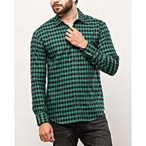 DenizenBlack & Green Cotton L/S Woven Shirt-Special Online Price
