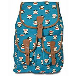 Bags Collection Sea Green Canvas Backpack For Women