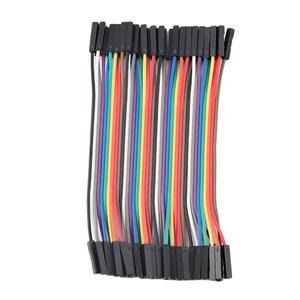 40 Pieces / Row 10cm 2.54mm Female to Female Wire Jumper Cable 1P-1P for Arduino