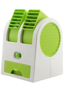 Royal Traders Mini Air Conditioner Fan USB and 3 AA Battery Operated - Green