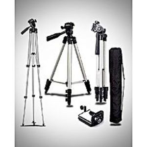 Bright shopTripod 3110 Camera Stand + Mobile Stand Sliver Adjustable