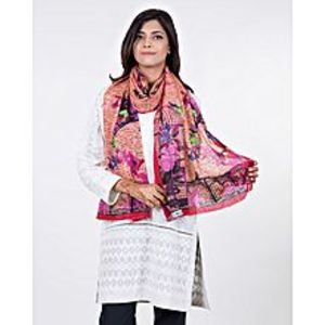 Bonanza SatrangiRust Polyester Scarf for Women