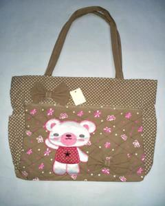 Brown School Bag, Shoulder Bag and Shopping Bag for Girls