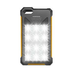 Solar Power Bank 8000 mAh (BuiltIn Torch Light) - Orange
