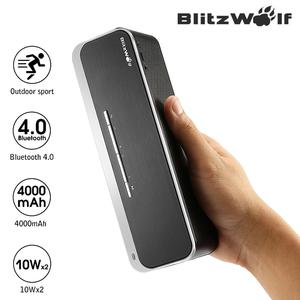 BlitzWolf Super Bass HiFi Wireless Bluetooth 4.0 Speaker with Long Battery Life ,Built-in clear Mic,High-Fidelity Sound,Wide connectivity