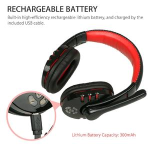Huilopker Bluetooth Wireless Gaming Headset for Xbox PC PS4 with Mic LED Volume Control