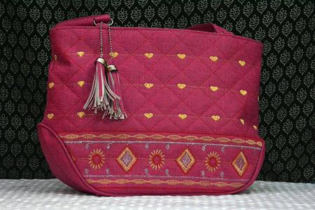 Artificial Leather Ladies Handbag - Pink