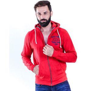 Red Fleece Sunburg Famelic Hoodie For Men
