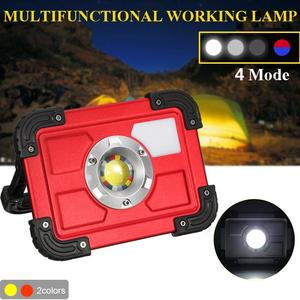 30W USB LED Portable Rechargeable Flood Light Spot Camping Outdoor Garden Lamp Red
