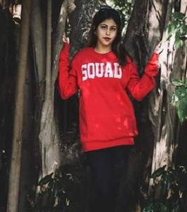 Red Squad Printed Sweat Shirt Code PA1268