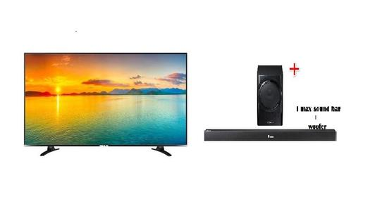 i max 32 inch SMART led with FREE  I MAX SOUND BAR AND WOOFER - BLACK