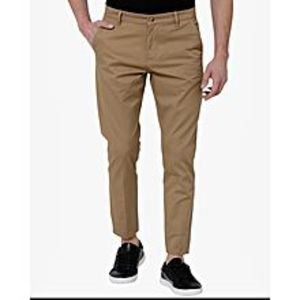 Aashi Brown Solid Chinos