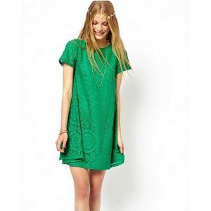 Charji Shop Green - Flower Lace Dress For Women