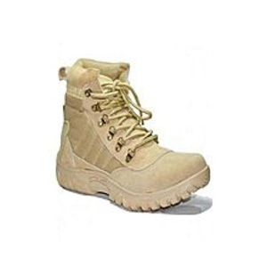 OSIER Beige Suede Leather Army Boots For Men