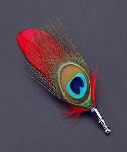 Peacock Feathers Brooch/Lepal Pin For Men