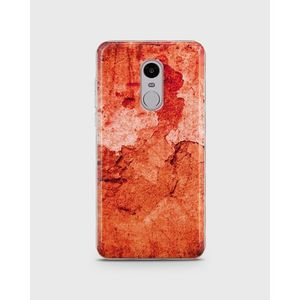 Xiaomi Redmi Note 4 Soft Cover Verwittere Wand Rot - 1cover585