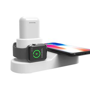 Huilopker colourful 4 in 1 Qi Wireless Charger Fast Charging Dock for Apple Watch AirPods iPhone XS Max XR Samsung S9 S9+