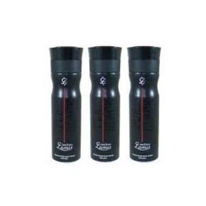 Pack Of 3-Creation Lamis Pure Black Deodorants For Men 200ml