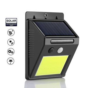 Outdoor Solar 48LED COB Smart IR Motion Sensor Wall Mount Lights Lamp