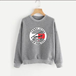 Grey Printed Sweatshirt for Men