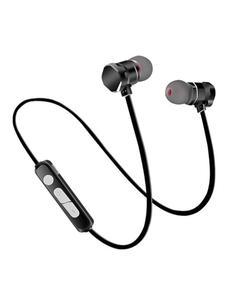 Magnetic super bass wireless Bluetooth earphone