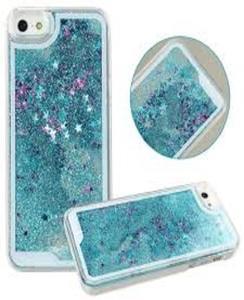 For Samsung J5 2016 Moving Glitter Blue Mobile Cover