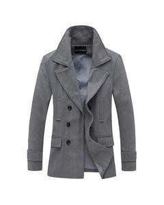 Grey Stylish WInter Fleece Coat For Men