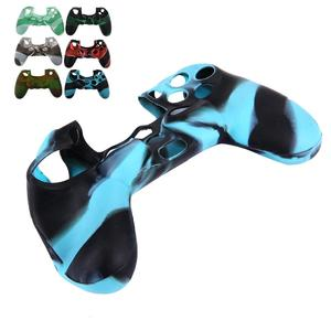 Camo Silicone Protective Case for PS4 Controller, Random Color Delivery