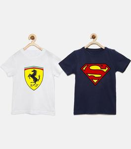 The Shop - Pack Of 2 - Cotton Printed T-Shirt For Kids