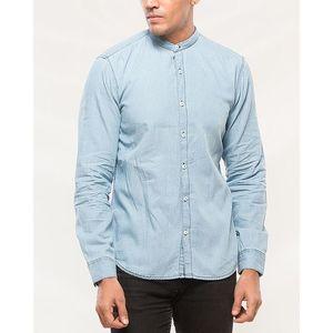 Denizen Sky Blue Cotton Band Shirt