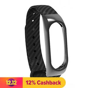 Carbon Fiber Strap with Metal Frame - (Strap for Mi Band 2) and 1 SCREEN PROTECTOR